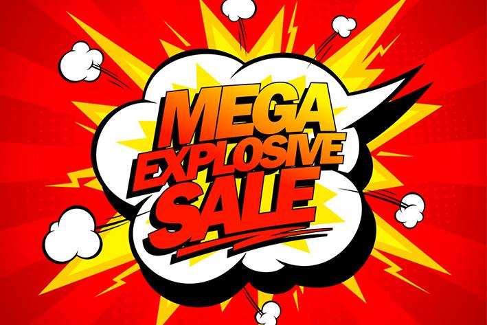 Mega explosive sale